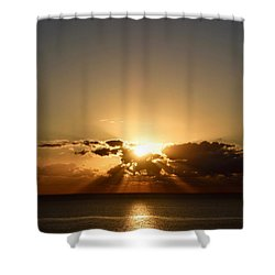 Shower Curtain featuring the photograph Sunrise 1 by Shabnam Nassir
