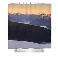 Shower Curtain featuring the photograph Sunrise Above The Clouds by Dan Mihai