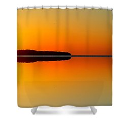 Shower Curtain featuring the photograph Sunrise Above The Forest 2  by Lyle Crump