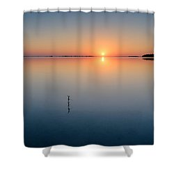Sunrise Along The Pinellas Byway Shower Curtain