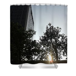 Sunrise And Building Shower Curtain