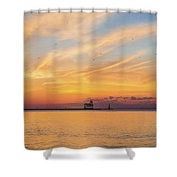 Shower Curtain featuring the photograph Sunrise And Splendor by Bill Pevlor