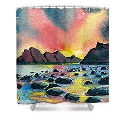 Sunrise And Water Shower Curtain