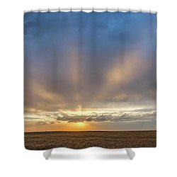 Sunrise And Wheat 03 Shower Curtain
