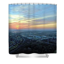 Sunrise At 400 Agl Shower Curtain by Dave Luebbert