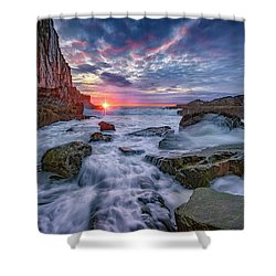 Sunrise At Bald Head Cliff Shower Curtain by Rick Berk