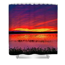 Sunrise At Bosque Del Apache Shower Curtain