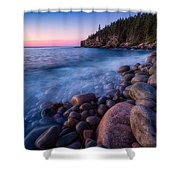 Sunrise At Boulder Beach Acadia Np Shower Curtain