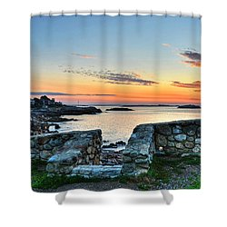 Sunrise At Castle Rock Marblehead Ma Shower Curtain