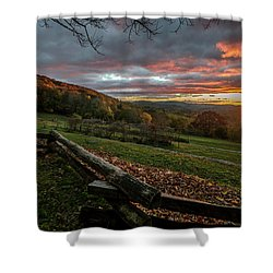Sunrise At Cone House Shower Curtain