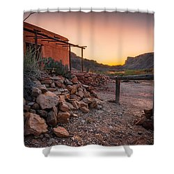 Shower Curtain featuring the photograph Sunrise At Contrabando by Allen Biedrzycki