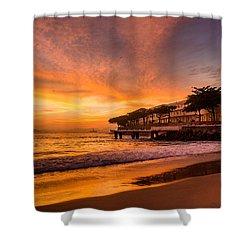 Sunrise At Copacabana Beach Rio De Janeiro Shower Curtain