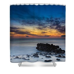 Sunrise At Coral Cove Park In Jupiter Vertical Shower Curtain by Andres Leon