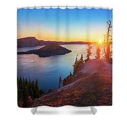 Sunrise At Crater Lake Shower Curtain