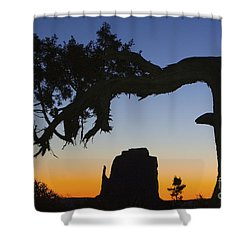 Sunrise At East Mitten Shower Curtain by Jerry Fornarotto