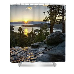 Sunrise At Emerald Bay In Lake Tahoe Shower Curtain
