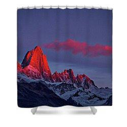Sunrise At Fitz Roy #3 - Patagonia Shower Curtain