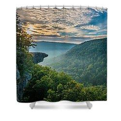 Sunrise At Hawksbill Crag Shower Curtain