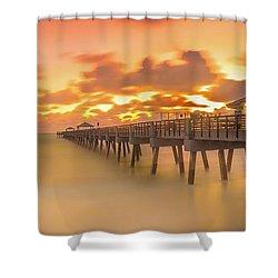 Sunrise At Juno Beach Shower Curtain