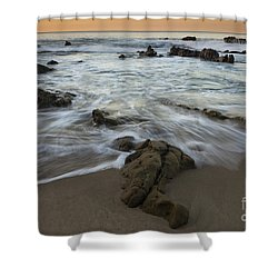 Sunrise At Laguna Beach Shower Curtain by Keith Kapple