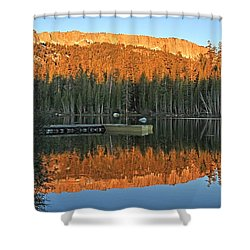 Shower Curtain featuring the photograph Sunrise At Lake Mamie by Donna Kennedy