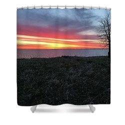 Sunrise At Lake Sakakawea Shower Curtain