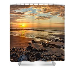Sunrise At Long Sands Shower Curtain