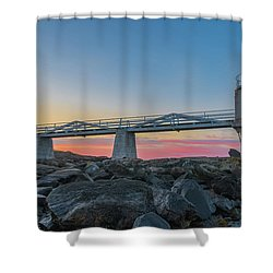 Sunrise At Marshall Point Shower Curtain