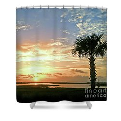 Shower Curtain featuring the photograph Sunrise At Ocean Isle by Kerri Farley