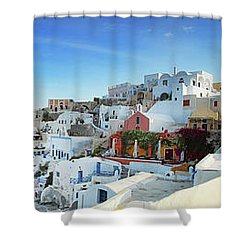 Sunrise At Oia Shower Curtain