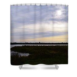Sunrise At Orange Creek Shower Curtain by Warren Thompson
