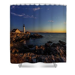 Sunrise At Portland Headlight Shower Curtain