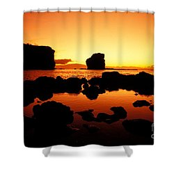 Sunrise At Puu Pehe Shower Curtain by Ron Dahlquist - Printscapes
