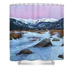 Sunrise At Rocky Mountain National Park Shower Curtain by Ronda Kimbrow