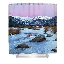Sunrise At Rocky Mountain National Park Shower Curtain
