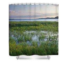 Shower Curtain featuring the photograph Sunrise At Sandbar  by Susan Cole Kelly