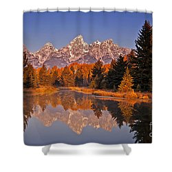 Sunrise At Schwabacher Landing  Shower Curtain by Sam Antonio Photography