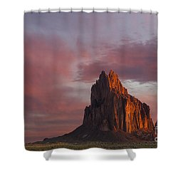 Sunrise At Shiprock New Mexico Shower Curtain