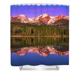 Shower Curtain featuring the photograph Sunrise At Sprage Lake by Darren White