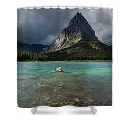 Sunrise At Swiftcurrent Lake Shower Curtain