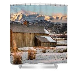 Sunrise At Tate Barn Shower Curtain