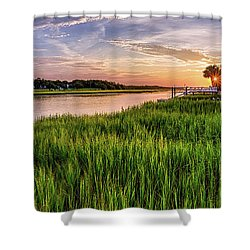 Sunrise At The Boat Ramp Shower Curtain