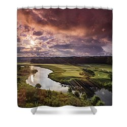 Sunrise At The Course Shower Curtain