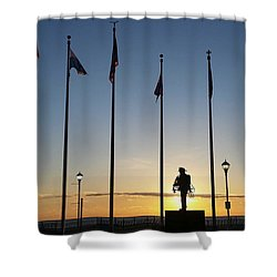 Sunrise At The Firefighters Memorial Shower Curtain