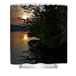 Sunrise At The Lake Shower Curtain by Henry Kowalski