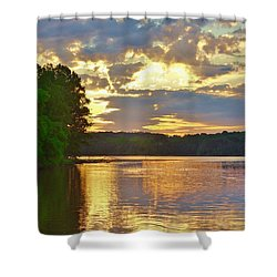 Sunrise At The Landing Shower Curtain