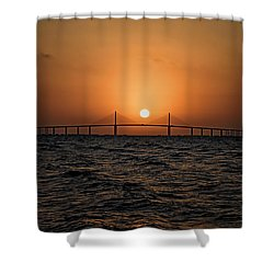 Sunrise At The Skyway Bridge 2 Shower Curtain