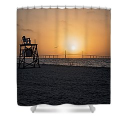 Sunrise At The Skyway Bridge Shower Curtain