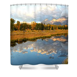 Sunrise At The Tetons Shower Curtain