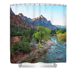 Sunrise At The Watchman - Zion National Park - Utah Shower Curtain